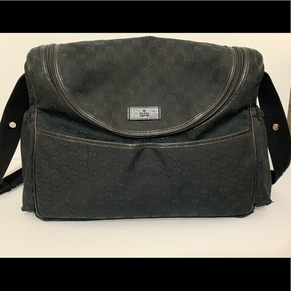 19813eaf88b3a9 Gucci Bags | Baby Diaper Bag Black Canvas | Poshmark